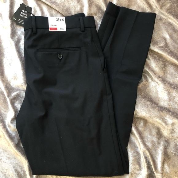 NWT Express extra slim stretch dress pants black NWT